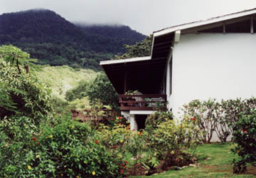 View of the Deck, Gardens, & Mountain